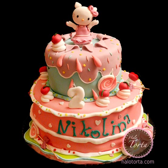 Hello Kitty iz velike torte