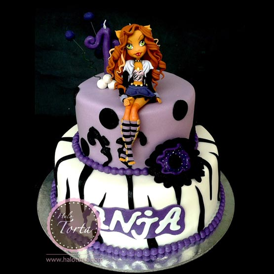 Monster High Clowden Wolf torta