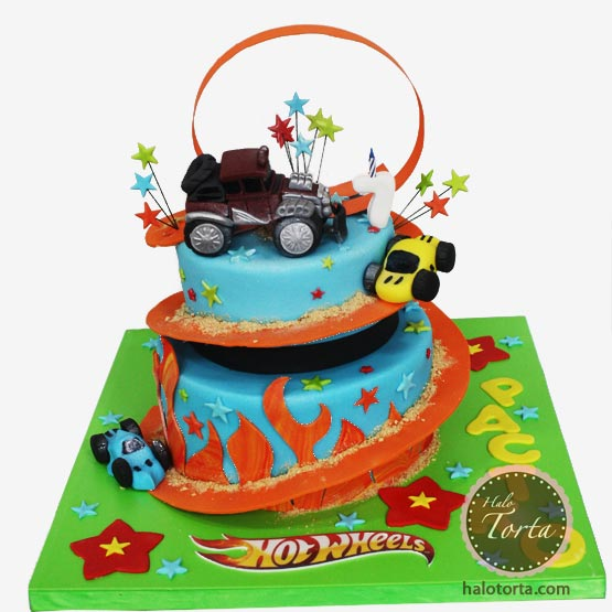 Hot Wheels torta