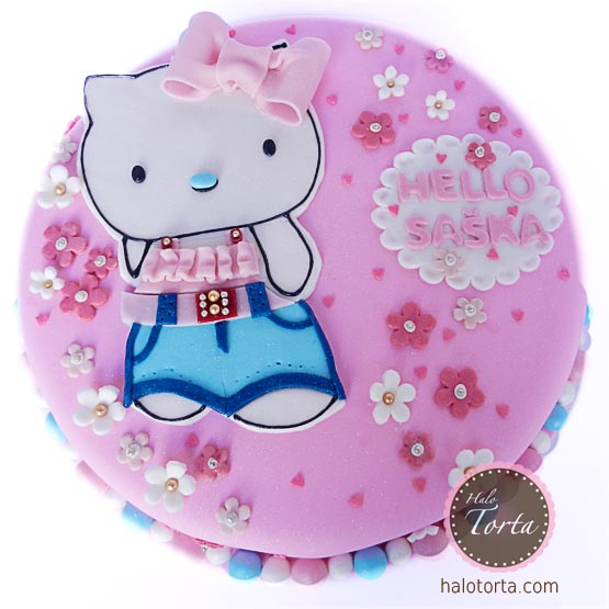 Hello Kitty roze torta
