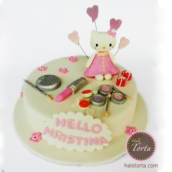 Torta Hello Kitty i šminka