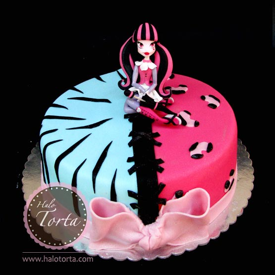 Monster High Drakulaura torta