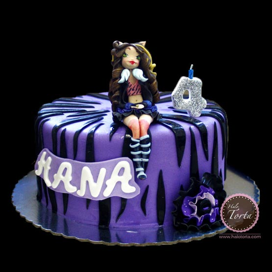 Monster High Klaudija Wolf torta