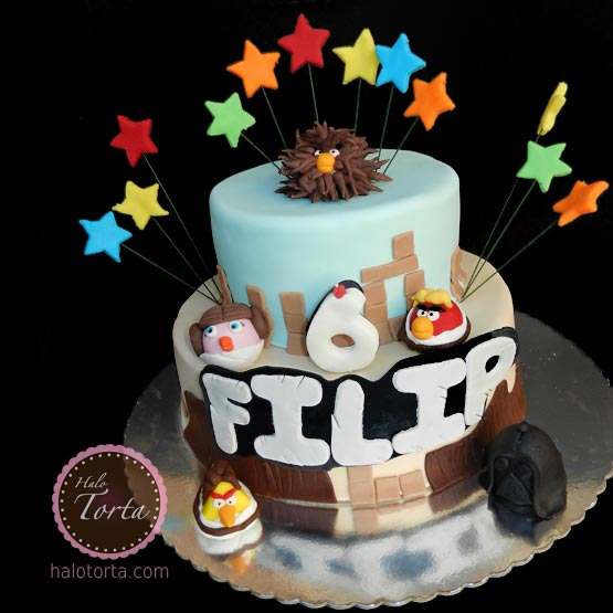 Angry Birds Space spratna torta