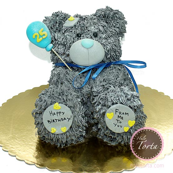 3d Tatty Bear torta za zaljubljene
