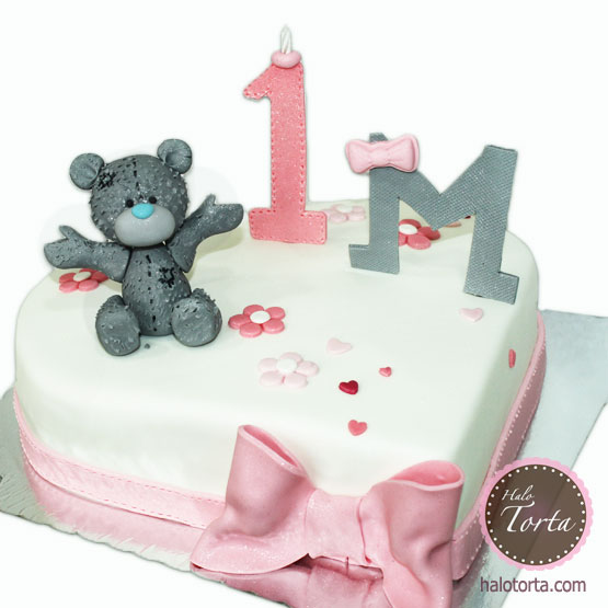 Torta Tatty Bear na srcu