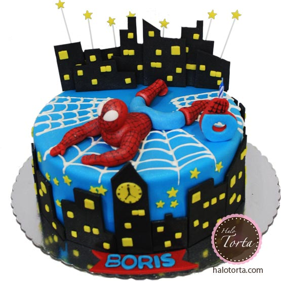 Torta Spiderman sa zgradama