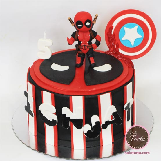 Marvel torta Deadpool