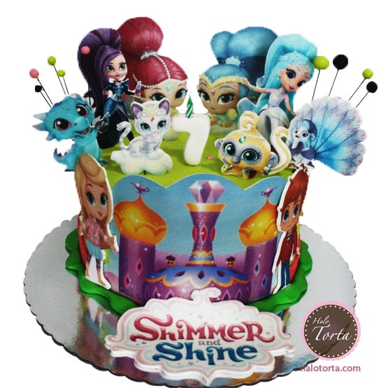 Torta Shimmer and Shine sa svim stikerima