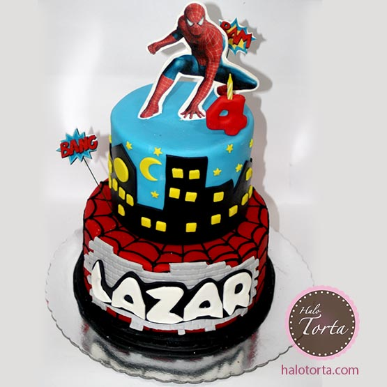 2D jestiva slicica Spiderman torta