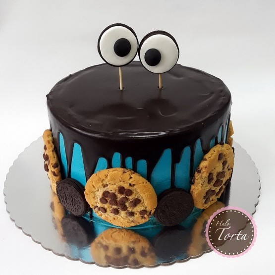 Cookie monster torta