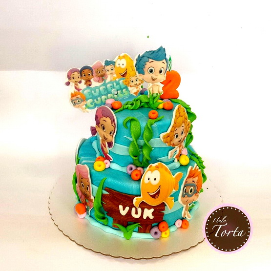 Vodeni svet malih Gupija - Torta Bubble Guppies