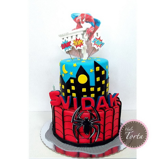 Torta Spiderman jestiva slicica